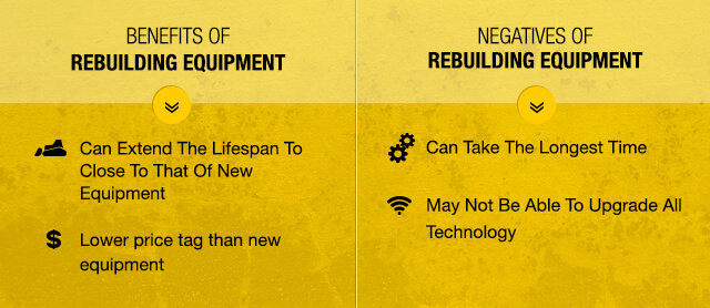 benefits rebuilding equipment