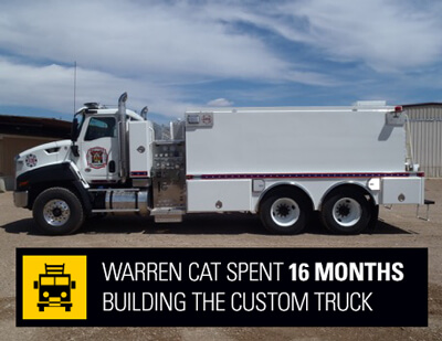 warren cat fire truck