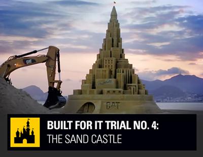 cat sand castle