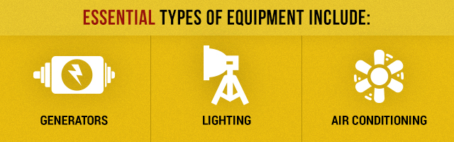 event equipment needs